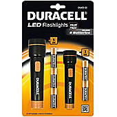 Duracel Duo-D Torch LED Flashlight includes 2 Torches with Batteries