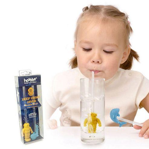 Deep Drink Diver Bubble Straws