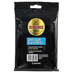 Simoniz Anti-Glare Glass Wipes, 20 pack
