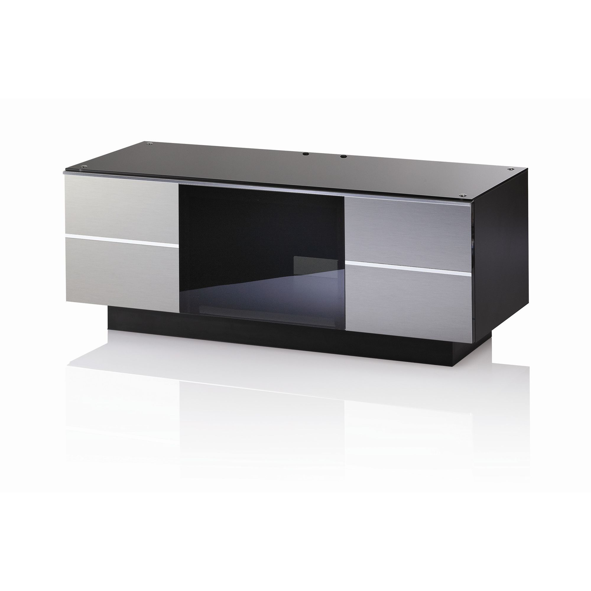 UK-CF G Series GG TV Stand - 110cm - Inox at Tesco Direct