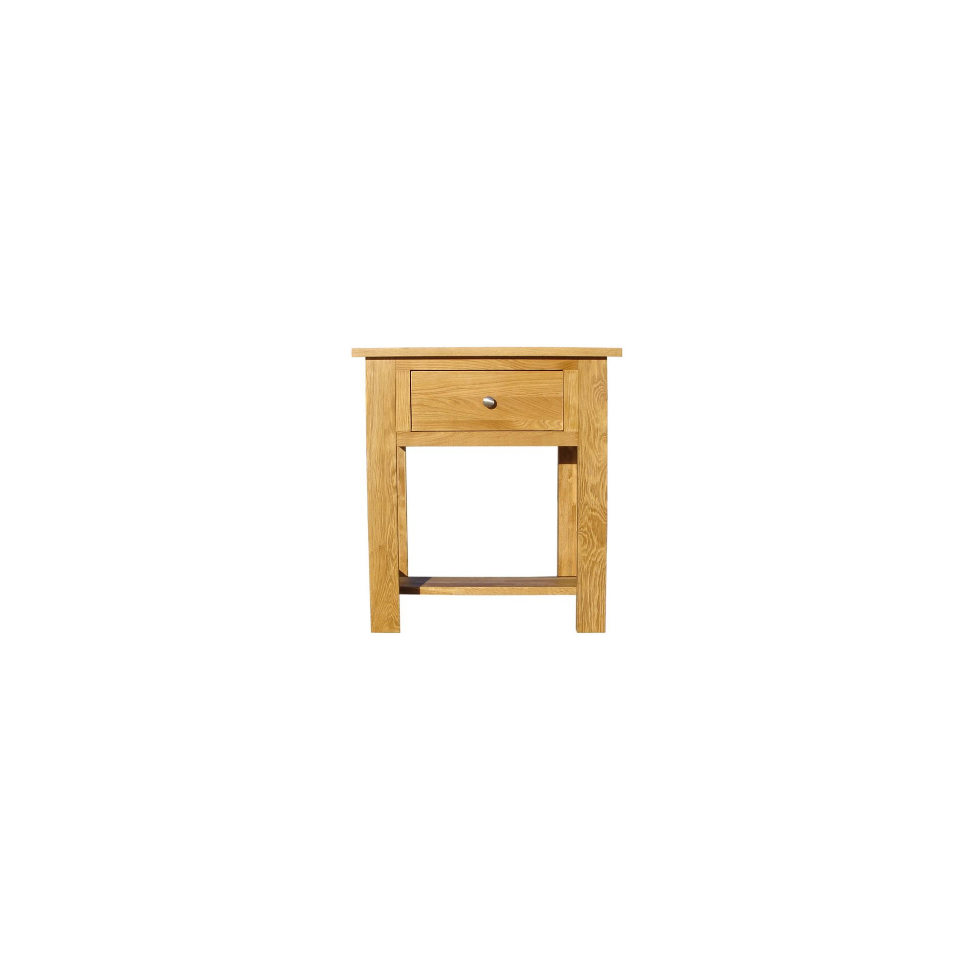 Home Zone Furniture Lincoln Oak 2009 Small Console Table at Tesco Direct