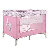 Obaby Naptime Bassinette Travel Cot, Tiny Tatty Teddy Pink