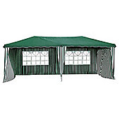 Bentley Garden 6m x 3m Large Gazebo - Green & White Striped