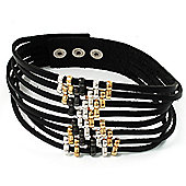 Party Multistrand Leather Choker Necklace