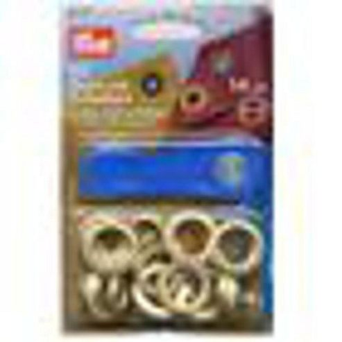 Eyelets+Washers 14mm Gilt