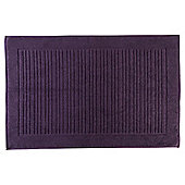Tesco Cotton Luxury Towelling Bath Mat, Aubergine