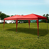 Palm Springs 10' X 20' Ez Pop Up Gazebo Party Tent Red