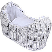 Clair de Lune White Noah Pod Moses Basket (Honeycomb White)
