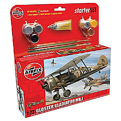 Airfix Gloster Gladiator Mk.1 1:72 Scale Model Starter Set