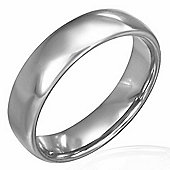 Urban Male Solid Tungsten Carbide 6mm Polished Half Round Band Ring
