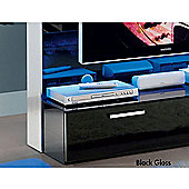 "Triskom Glass TV Stand for LCD / Plasmas with Bracket - Black Gloss and Blue Panel Light - 37"" - 42"""