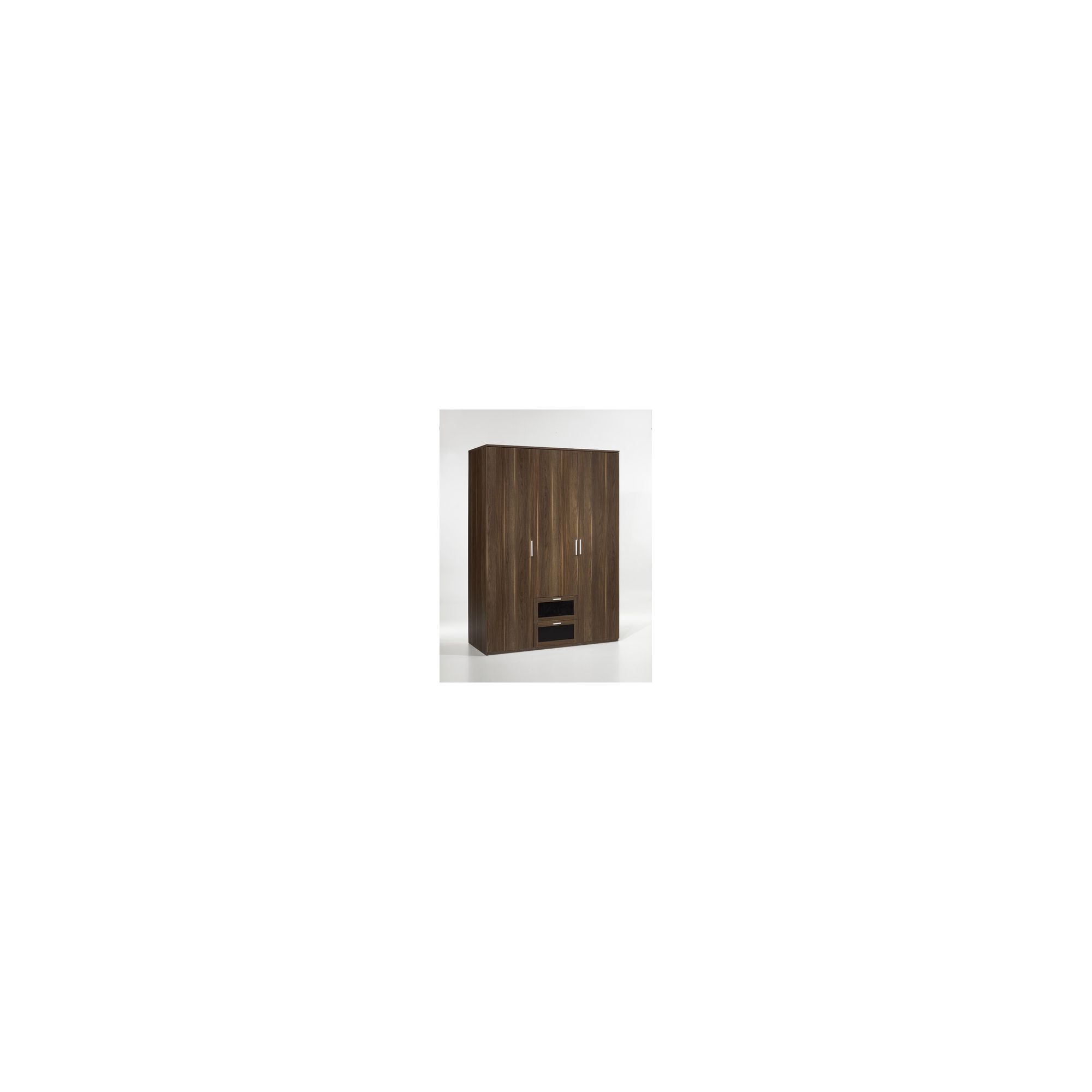 Tvilum New York Three Door Wardrobe in Dark Walnut at Tesco Direct