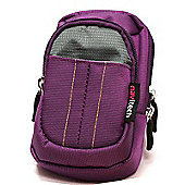 Purple Compact Digital Camera Carry Case / Bag