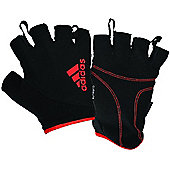 adidas Essential ClimaLite Fitness Workout Gym Gloves Black / Red - Black
