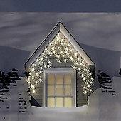 Christmas LED Outdoor Multi Function Icicle Lights - 400 LED - Warm White