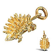 Jewelco London 9ct Solid Gold spikey Hedgehog Pendant