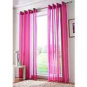 Plain Ring Top Voile - Pink