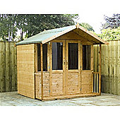7ft x 5ft Bedford Summerhouse 7 x 5 Garden Wooden Summerhouse