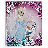 Disney Frozen Elsa and Olaf Glitter Canvas Art