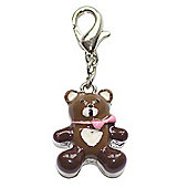 Teddy Bear Clip on Charm