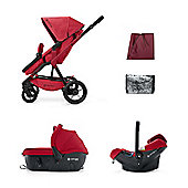 Concord Wanderer Travel Set, Ruby Red