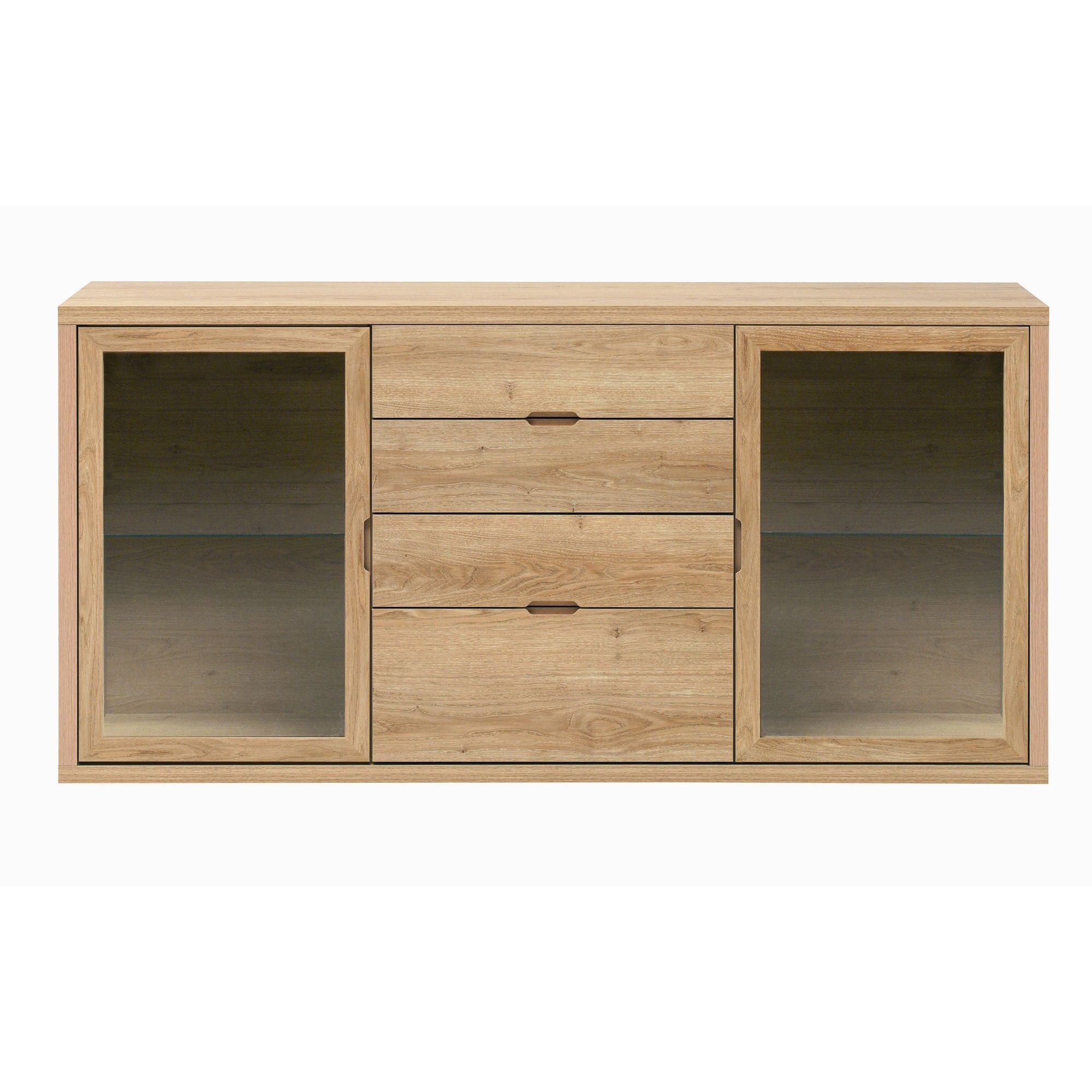Caxton Darwin 2 Glazed Door / 4 Drawer Sideboard in Chestnut at Tesco Direct