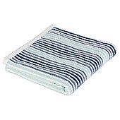 Tesco  Core Stripe Bath Sheet - Blue