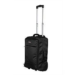 "Swiss Case 20"" Lightweight Folding Travel Suitcase Cabin Luggage Trolley Bag - Black"