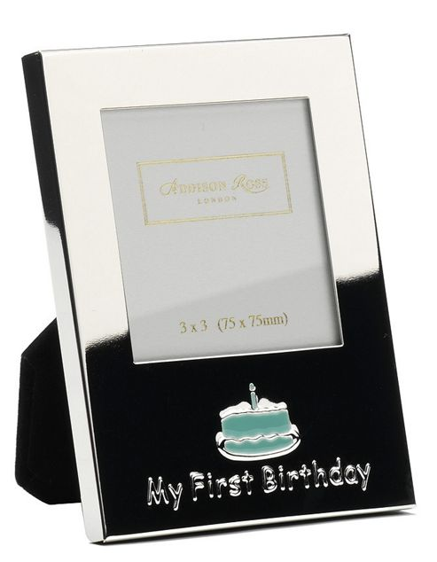 Addison Ross Baby Enamel Photo Frame Boy My First Birthday Frame