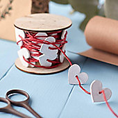 Christmas Wrapping Twine With White Hearts
