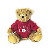 Happy Birthday Bear with Red Guernsey Sweater