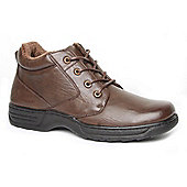 Caravelle Mens Brown Limassol Wide Fit Ankle Boots