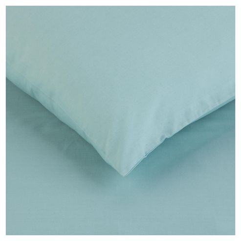 Tesco Twinpack Housewife Pillowcases Soft Teal