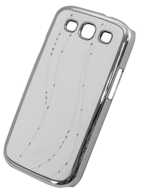 Tortoise™ Hard Case Samsung Galaxy SIII Diamante Swirl White