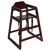 Safetots Simply Stackable Highchair Walnut