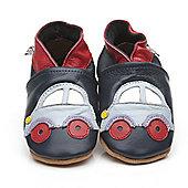 Cherry Kids Soft Leather Baby Shoes Car Black - Black