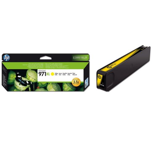 HP 971XL Yellow Ink Cartridge (Yield 6600 Pages) for OfficeJet Pro X Series Printers