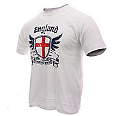 England Adults Football T-Shirts - White
