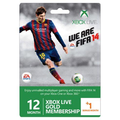 Xbox LIVE 12+1 Fifa Gold Card