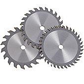 VonHaus Set of 3 x 100mm diameter, 10mm bore blades, for 12V circular saw