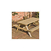 Rowlinson Picnic Table and Bench - 70cm H x 150cm W x 120cm L