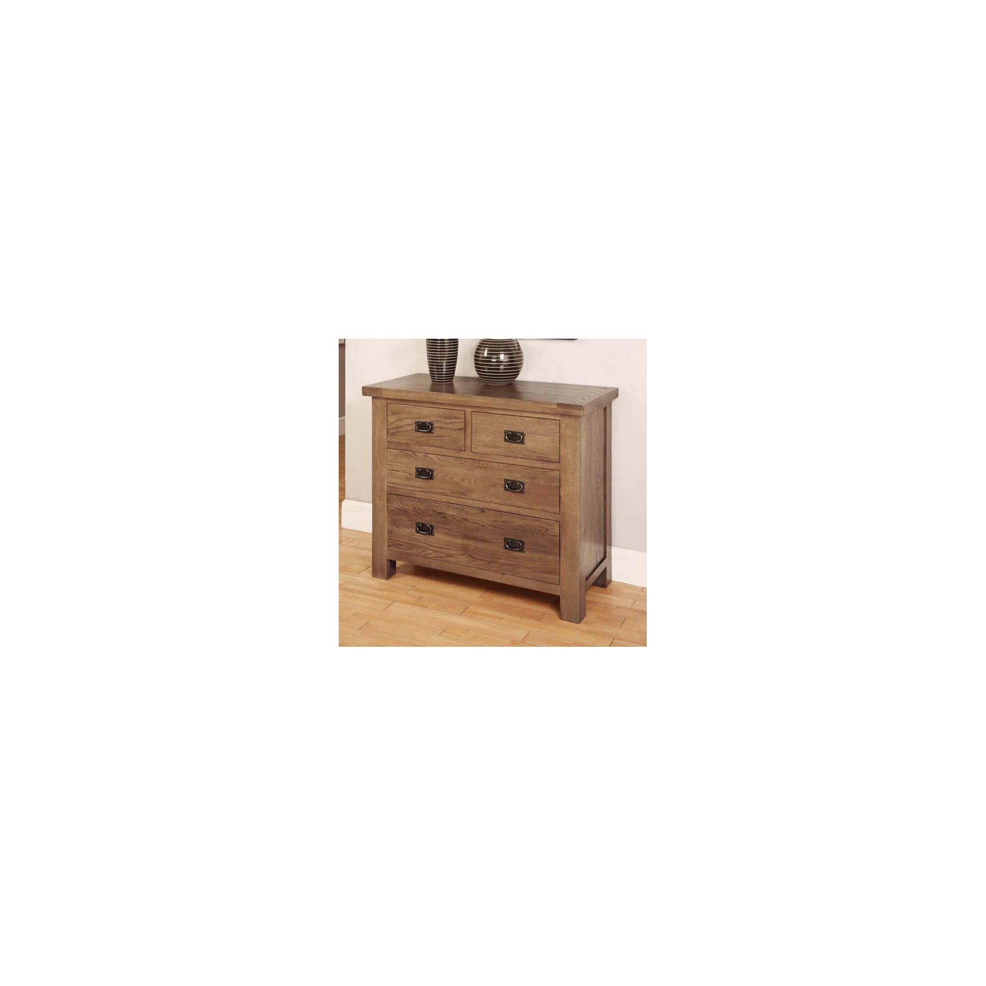 Hawkshead Brooklyn Four Drawer Chest in Rich Patina at Tesco Direct