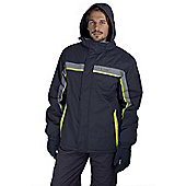 Jasper Mens Warm Skiing Snowboarding Winter Snow Boarding Ski Jacket Coat - Grey