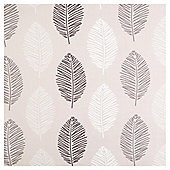 "Leaf Print Eyelet Curtains W163xL183cm (64""x72""), Natural"