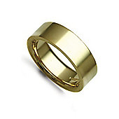 Jewelco London Bespoke Hand-Made 9 carat Yellow Gold 7mm Flat Court Wedding / Commitment Ring,
