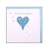 Glittering Heart Page Boy Wedding Card