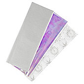 Tesco 3 Sheet Tissue Silver Snowflake
