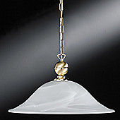Honsel Hof 1 Light Bowl Pendant - Brass Matt/Brass Polished