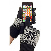 Touchscreen Gloves With Snowflake Design