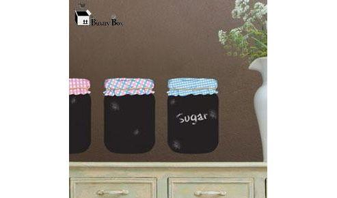 Blackboard jars wall sticker set